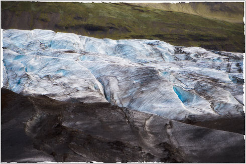 Glacier in the South of Iceland
